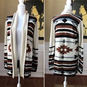 BB Dakota Southwestern Tribal Open Cardigan